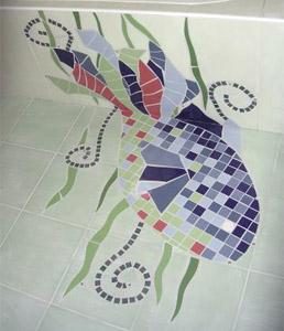 Salle de bain - poisson