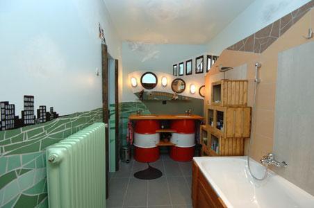 Salle de bain - Tintin
